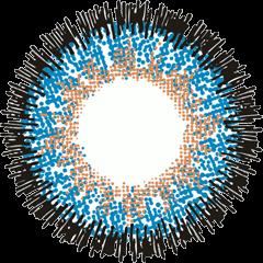 ロデオ 度なしでブルーのVOYAGEの拡大画像です。